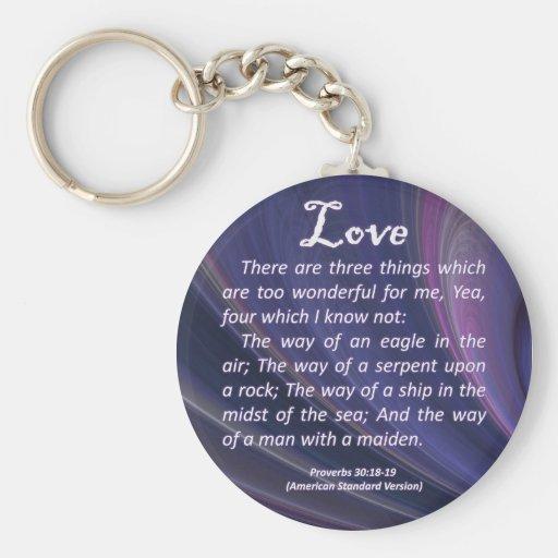 Proverbios del amor 30-18 llaveros personalizados