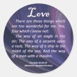 Proverbios del amor 30-18 pegatinas