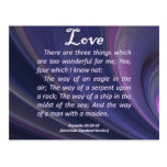 Proverbios del amor 30-18 tarjetas postales