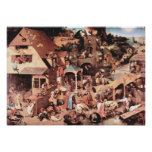 Proverbios del holandés de Pieter Bruegel-The Impresiones