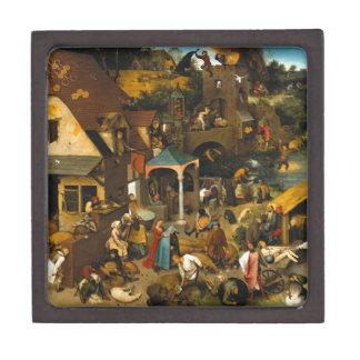 Proverbios holandeses de Pieter Bruegel la anciano Caja De Joyas De Calidad
