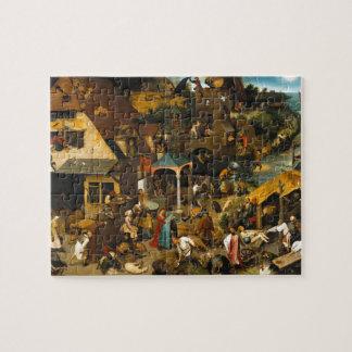 Proverbios holandeses de Pieter Bruegel la anciano Rompecabeza