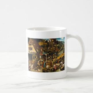 Proverbios holandeses de Pieter Bruegel la anciano Tazas De Café