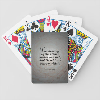Proverbs 10:22 bicycle playing cards