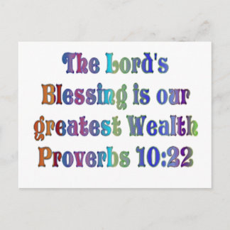 Proverbs 10:22 postcard