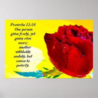 Proverbs 11:24 print