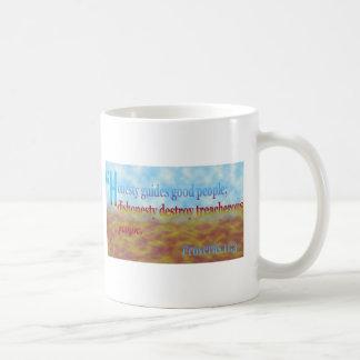 proverbs 11:3 coffee mug