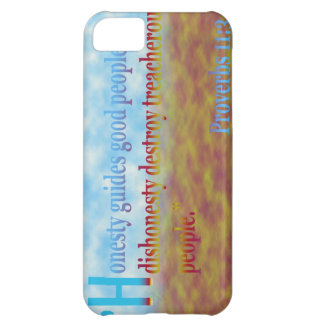 proverbs 11:3 iPhone 5C cover