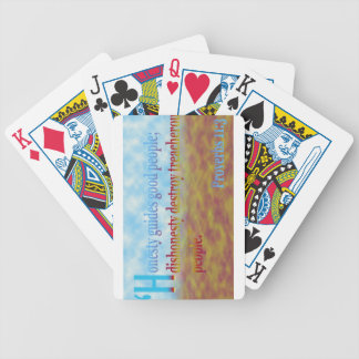 proverbs 11:3 bicycle poker deck