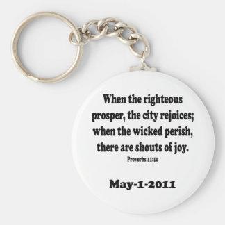 proverbs 11 keychain
