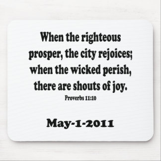 proverbs 11 mouse pad