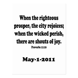 proverbs 11 postcard