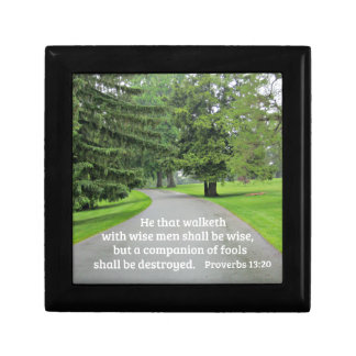 Proverbs 13:20 He that walketh with wise men Gift Box