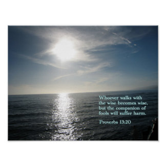 Proverbs 13:20 Sunset Posters