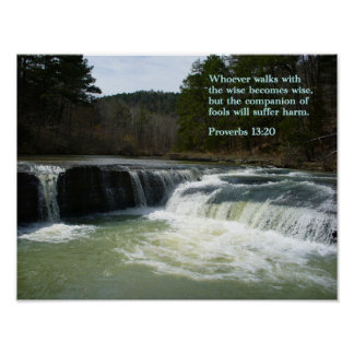 Proverbs 13-20 Waterfall Poster