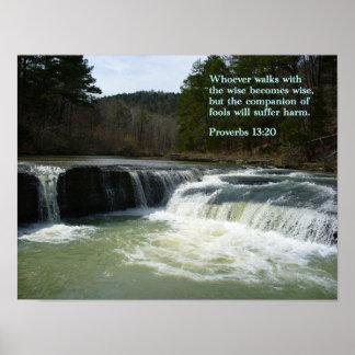 Proverbs 13-20 Waterfall Print