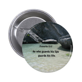 Proverbs 13:3 He who guards his lips... Buttons