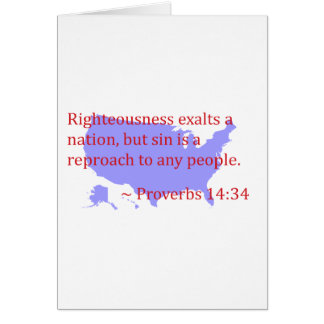Proverbs 14.34 and America Card
