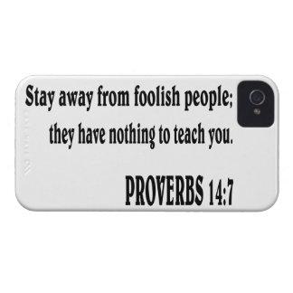 PROVERBS 14:7 Bible verse. iPhone 4 Case-Mate Case