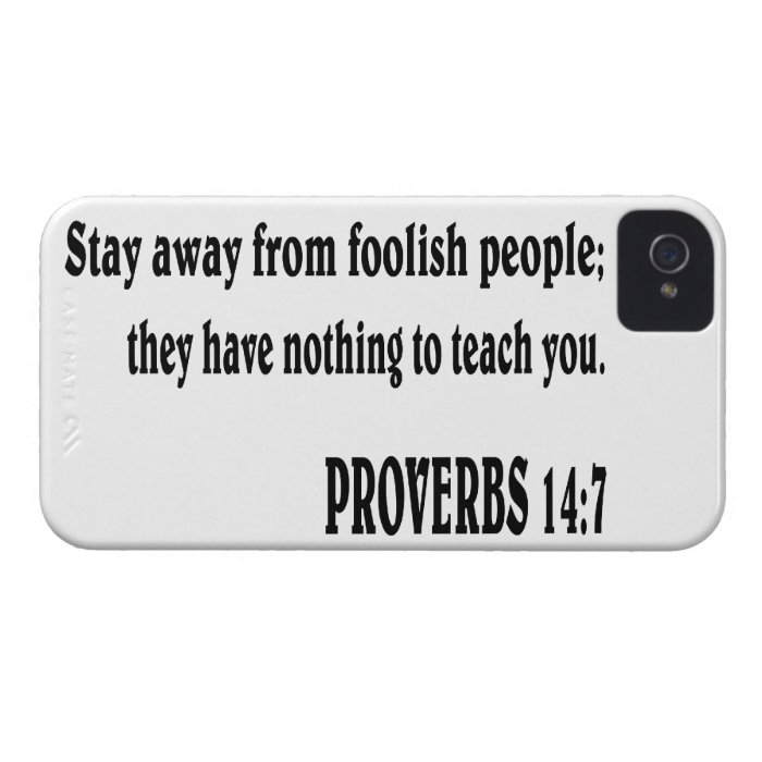 PROVERBS 14:7 Bible verse. iPhone 4 Case-Mate Case