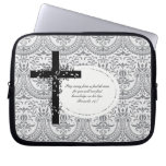 Proverbs 14:7 Laptop or Netbook Carrier Sleeve Laptop Computer Sleeve