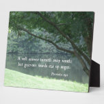Proverbs 15:1 A soft answer turneth away wrath Display Plaque