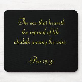 Proverbs 15 Wisdom Mousepad