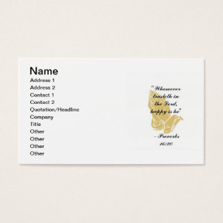 Proverbs 16:20 Business Cards
