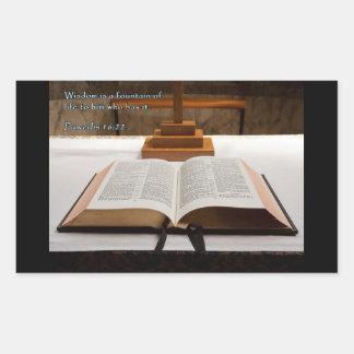 Proverbs 16:22 Bible Rectangular Sticker