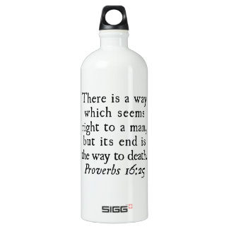 Proverbs 16:25 There is a way which seems right... SIGG Traveler 1.0L Water Bottle