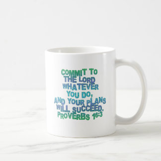Proverbs 16:3 coffee mug