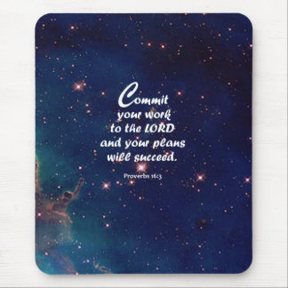 Proverbs 16:3 mouse pad