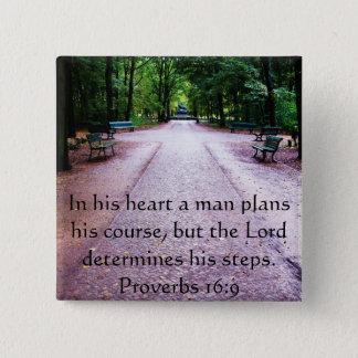 Proverbs 16:9 Inspirational Bible Verse Button