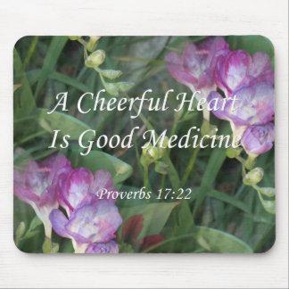 Proverbs 17:22  ~ Freesia Flowers Mousepads