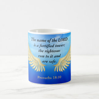 Proverbs 18:10 coffee mug
