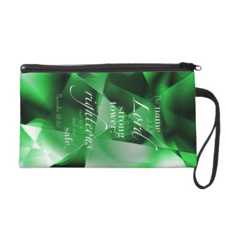 Proverbs 18:10 wristlet purse
