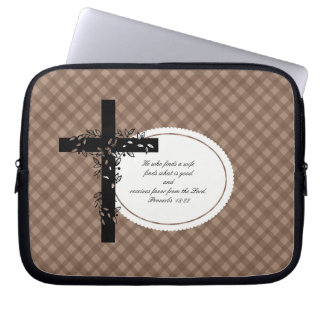 Proverbs 18:22 Laptop or Netbook Carrier Sleeve Computer Sleeves