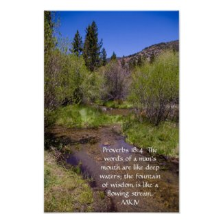 Proverbs 18:4 print