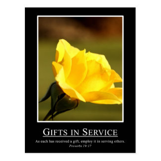 Proverbs 19:17 - Use your gifts for serving others Postcard