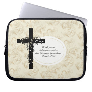 Proverbs 21:21 Laptop or Netbook Carrier Sleeve Computer Sleeves