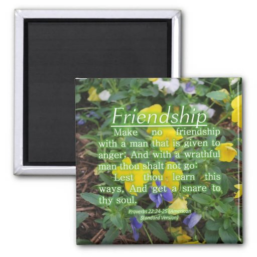 Proverbs 22:24-25 fridge magnet