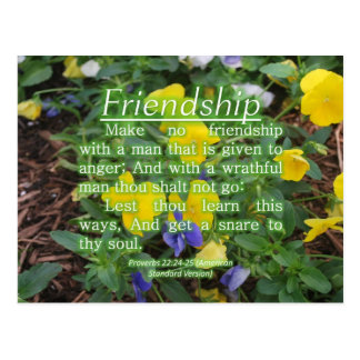 Proverbs 22:24-25 postcard