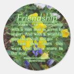 Proverbs 22:24-25 round sticker