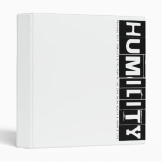"Proverbs 22:4 ""Humility"" (black) Binders"