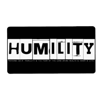 "Proverbs 22:4 ""Humility"" (white) Personalized Shipping Labels"