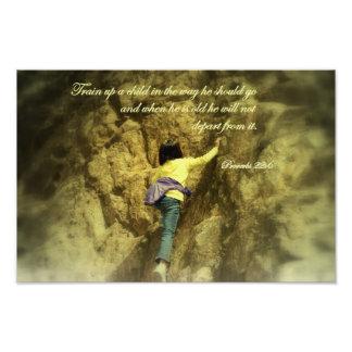 Proverbs 22:6 Train up a child Photo Print