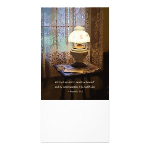 Proverbs 24 3 Through Wisdom Is an House Builded Customized Photo Card