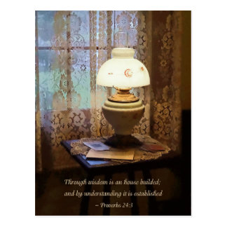 Proverbs 24 3 Through Wisdom Is an House Builded Postcard