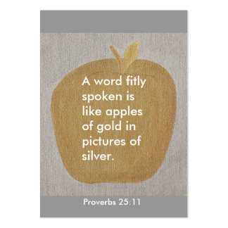 Proverbs 25:11, A word fitly spoken, apple cards