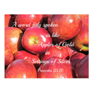 Proverbs 25:11 A word fitly spoken... Postcard